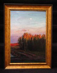 Michael Downs Moon at Sunset 17x12