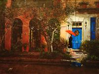 Blue Door  by Peter Justl  Oil on Canvas